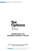 Inheritance Tax - Business Property Relief