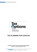 Tax Planning for Couples